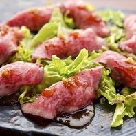 黒毛和牛ローストビーフネギトロ巻き【肉寿司】も人気◎