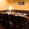 VIPルームは8名まで利用可能。会社宴会、接待、ご家族での集まりなどに最適。