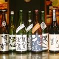種類豊富な日本酒、焼酎。