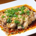 料理メニュー写真蒸し鶏の麻辣ソース