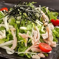 料理メニュー写真蒸鶏大根のゴマダレサラダ