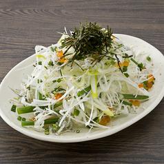 料理メニュー写真青ネギと白ネギのサラダ