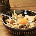料理メニュー写真バスク風 3種のキノコソテー 卵黄のせ