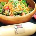 料理メニュー写真特製ドレッシングで食べる☆魚介マリネとマッシュルームのサラダ