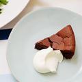 料理メニュー写真自家製チョコレートケーキ