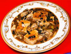 カキと豆腐の黒豆醤油煮 小/並
