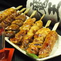 料理メニュー写真串焼き盛り合わせ(7本/10本)