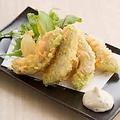 料理メニュー写真アボカドとクリームチーズの天婦羅