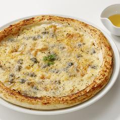 料理メニュー写真ゴルゴンゾーラチーズのピザ-はちみつ添え-
