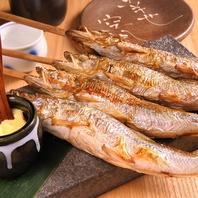 北海道直送のこだわり食材を使用した炉端焼き