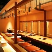 簾で仕切れる半個室は、20名様の宴会もOK