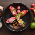 料理メニュー写真牛カルビ寿司/牛もも寿司/肩ロース寿司/ブリスケ寿司/ローストビーフ寿司