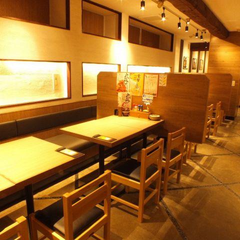【新橋・西口】広い空間でのテーブル席★