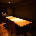 【完全個室席】最大で8名様~10名様までご利用可能な個室席。お席のタイプは気軽に利用できるテーブル席にてご案内。接待や会食、ご宴会など様々シーンに是非お使いください