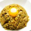 料理メニュー写真カレー炒飯 (生卵付)