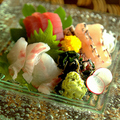 料理メニュー写真県産魚の刺身三点盛り合わせ