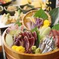 九州近海の新鮮でおいしい魚介を使った料理もたくさんご用意しております!