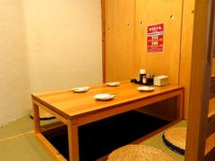 4名様掘テーブル個室は1つ。ご予約はお早目に。
