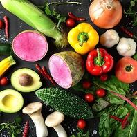 産地直送野菜をふんだんに使った料理が満載