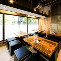 本格的な串料理を、落ち着いた空間で堪能ください。