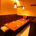 和のテイストを大切にした店内♪隣の席が気にならない仕切られた半個室調の空間!