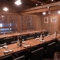 10名様以上のご宴会の可能なテーブル席は最大30名様までの大型宴会が可能!
