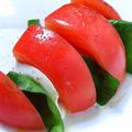 料理メニュー写真カプレーゼ(トマトとモッツァレラ)
