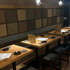 4名様テーブルを5つご用意しております♪ご予約のお人数様に合わせて、お席をご用意いたします!大人数での宴会にオススメです♪