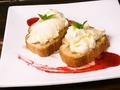料理メニュー写真ハニートースト バニラアイス添え