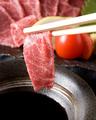 料理メニュー写真熊本産 特選馬刺 (霜降り肉、タテガミ)