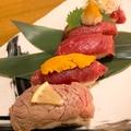 料理メニュー写真馬肉の握り5種盛り