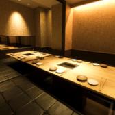 個室は店内奥に4部屋ございます!テーブル席と掘りごたつ席の2種類あり、掘りごたつ席は8名様~最大12名様までご利用可能です◎ゆったりとお座りいただけるため、各種ご宴会にもオススメです♪