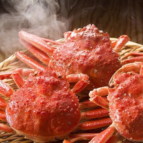 なんば徒歩3分★蟹食べ放題!!『焼』『刺』『茹』『鍋』で思う存分ご堪能ください♪