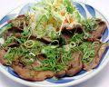 料理メニュー写真薄切り牛たんの九条ねぎ塩焼/牛たんの仙台味噌焼
