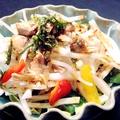 料理メニュー写真蒸し鶏と大葉の大根サラダ