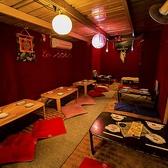 お座敷席は個室に変更可♪パーテーションでさらに個室に分けることも可能です!!