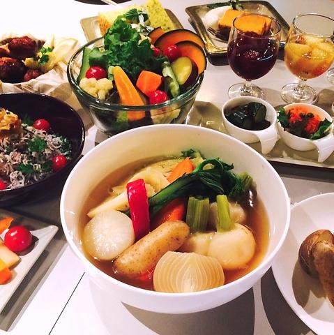 有機野菜や雑穀をいかした、ボリューム感のあるメニューが◎「農園カフェ&バル」