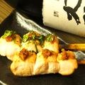 料理メニュー写真ささみ (しょうが醤油/梅/柚子胡椒/わさび)