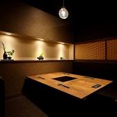 【ソファーの完全個室】(4室/4名~5名様用/扉・壁あり)