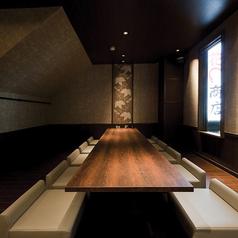 名古屋駅新幹線口より西へ徒歩2分の寿司屋【十六夜】の10名様用掘りごたつ個室。6名様~ご予約承っております。