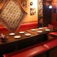 中東のエキゾチックな雰囲気のお店で、珍しい中東料理とお酒をお楽しみ下さい♪ 人気No1トルココースお料理5品+2時間飲み放題付 クーポン利用で4500円→4000円