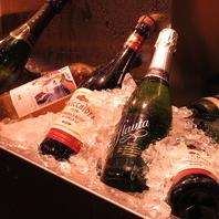 豊富なワインやスパークリング、銘酒まで!