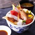 料理メニュー写真≪海鮮茶漬け≫特上 海鮮贅沢丼(いくら入り)
