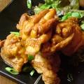 料理メニュー写真若鶏の唐揚げ/イカげそ揚げ