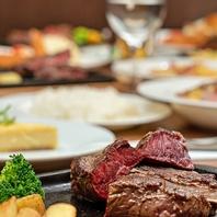 ステーキでがっつりお腹を満たせます!!