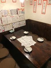 間仕切りのあるテーブル席が3つご用意しております。*1席のみ5名様席になります。