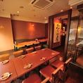 テーブル席最大26名様までワンフロアで利用可能な宴会スペース