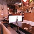 各テーブルの間に仕切りを作り、他のお客様との接触を控えておりますので、ご安心してご来店ください。