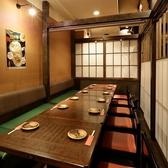 6名様~10名様のテーブル席個室空間