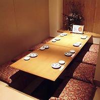10名様~ご利用可能な完全個室なご用意あり!